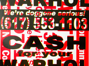 Hand-painted Multiple by Cash For Your Warhol - We're Doggone Serious 34 - 18x24 Inch