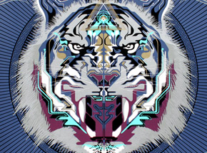 Art by Chris Saunders - Le Tigre