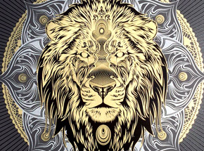Art by Chris Saunders - Lion Mandala