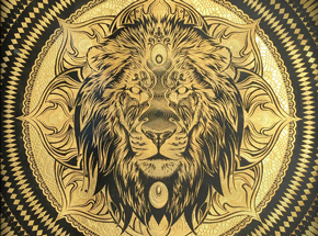 Original Art by Chris Saunders - Lion Mandala II