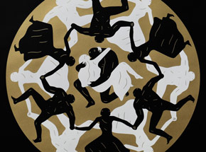 Art Print by Cleon Peterson - Endless Sleep (Black)
