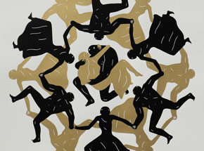Art Print by Cleon Peterson - Endless Sleep (White)