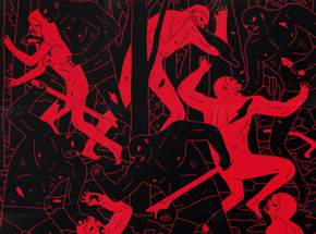 Art Print by Cleon Peterson - Judgment (Black/Red)