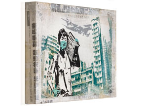 Hand-painted Multiple by Eddie Colla - Air Kowloon - Cradled Wood Boxes