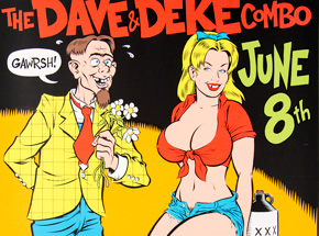 Art by Coop - The Dave And Deke Combo - June 8th, 1996 at The Kilowatt