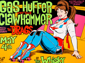 Art by Coop - Gas Huffer vs. Clawhammer - May 4th, 1996 at The Whiskey