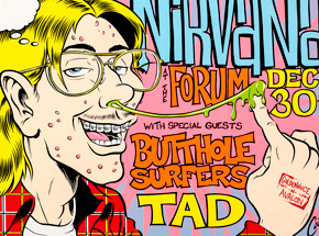 Art by Coop - Nirvana - Dec. 30th, 1993 at The Forum