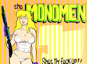 Art by Coop - The Monomen - Shut The Fuck Up Tour 1993-1994