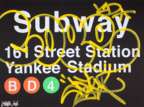 Art Print by Cope2 - Yellow Variant - N161 Street Station / Yankee Stadium