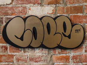 Art by Cope2 - Classic Wood Cut Throw Up - Gold 35th Anniversary Edition