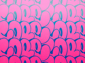 Art Print by Cope2 - Stacked Bubble Throwies - Pink Edition