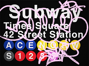 Art Print by Cope2 - Pink Variant - 42 Street Station / Times Square