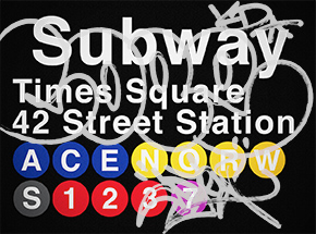 Art Print by Cope2 - Silver Variant - 42 Street Station / Times Square