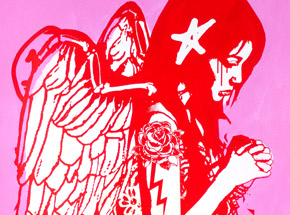 Art Print by Copyright - Fallen Angel - Pink Edition