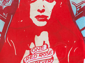 Art Print by Copyright - One Rose - Red Edition