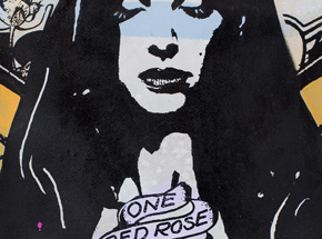 Art Print by Copyright - One Rose - Black Edition