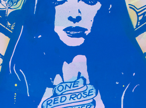 Art Print by Copyright - One Rose - Blue Edition