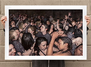 Art Print by Dan Witz - I Feel - 36 x 24 Inch Edition