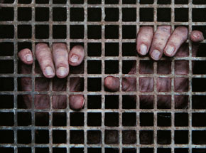 Original Art by Dan Witz - Two Hand (Sq. Grate)