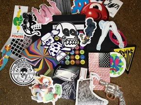 Art by DB Burkeman - STUCK-UP Die-Cut Sticker Folio
