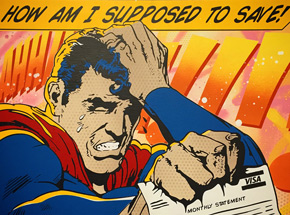 Art by Denial - Sad Superman - Hand Painted Multiple