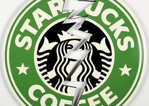 Art by Denial - Starbucks Crack (Laser Cut)