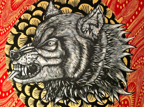Original Art by Dennis McNett - Hati 2
