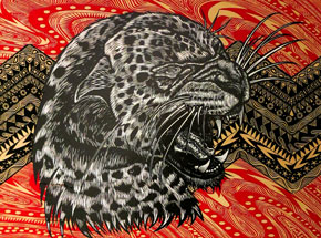Original Art by Dennis McNett - Leopard Profile 2