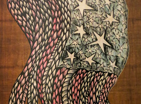 Original Art by Dennis McNett - The Story Of Old Glory 1