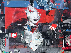 Original Art by Derek Gores - Nothing Stops Red Everything