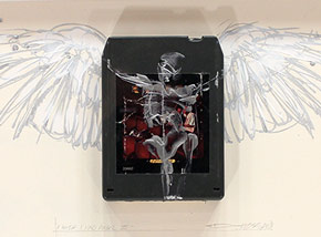 Original Art by Derek Hess - I Wish I Had An Angel III - Kansas - Two For the Show