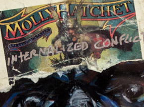 Original Art by Derek Hess - Molly Hatchet - Internal Conflict Externalized As War