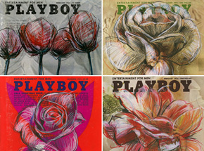 Art Print by Derek Hess - Playboy Flowers - 4-Print Set