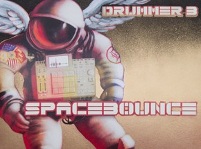 Art by Drummer B & Ron Zakrin - Spacebounce - Hand-Embellished Record + Limited Edition Print
