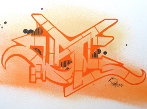 Original Art by Dvate - Orange Umber #2 - Original Artwork