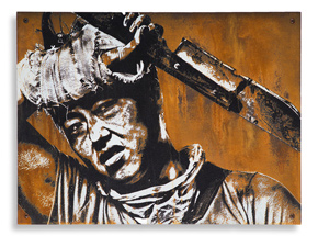 Hand-painted Multiple by Eddie Colla - Culling - Limited Edition Rust Print