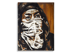 Hand-painted Multiple by Eddie Colla - Ghost Armies - Limited Edition Rust Print