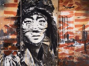 Art by Eddie Colla - Not By Victory - Hand-Painted Multiples
