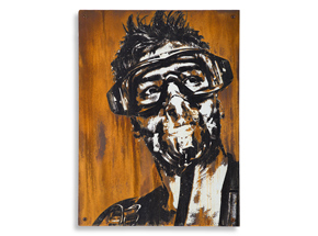 Hand-painted Multiple by Eddie Colla - Sentry - Limited Edition Rust Print