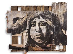 Original Art by Eddie Colla - Untitled Slavage Portrait