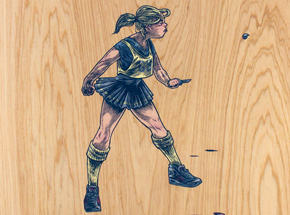 Original Art by Elliot Francis Stewart - Netball Girl