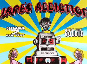 Art by Emek - Janes Addiction - December 2nd, 1997 at The San Diego Sports Arena