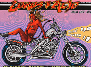 Art by Emek - Lords of Acid - Nov. 18 at Clutch Cargos Pontiac, MI