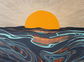 Art Print by Erik Otto - Chasing The Sun - Framed