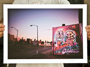Art Print by Flying Fortress - Detroit Rock City Skyline