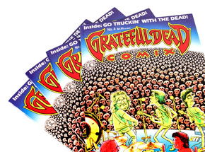 Art by Shelton/Mavrides - Grateful Dead Comix #4