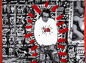 Art Print by Gregory Siff - For Keith: I've Got So Much To Do - Keith Haring Posing Hard
