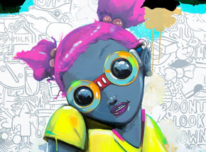 Art Print by Hebru Brantley - No Gardens Pt. II