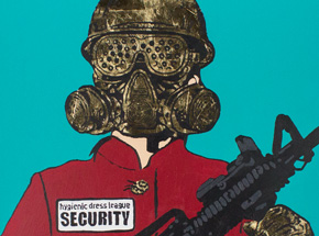 Original Art by Hygienic Dress League - Female Security - Original Artwork