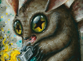 Original Art by Jason Limon - Feeding The Torch Devil - Original Painting